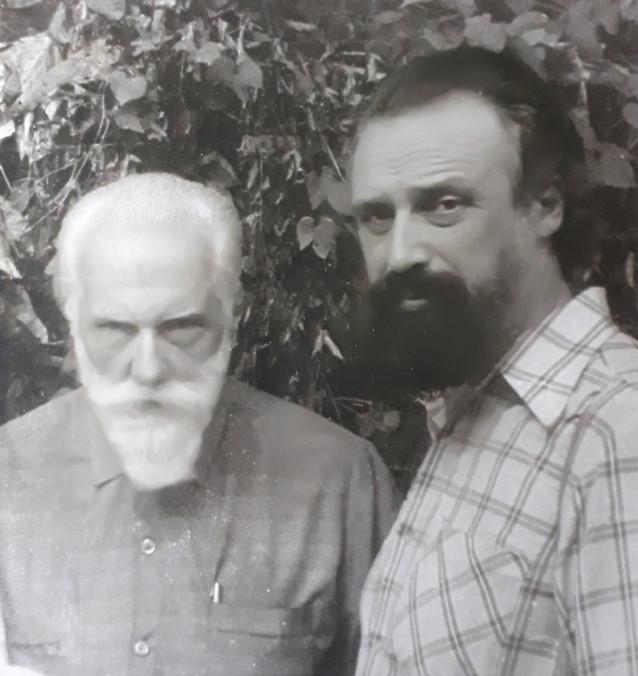 Святослав Рерих и Игорь Васильев. Индия, 1988 г
